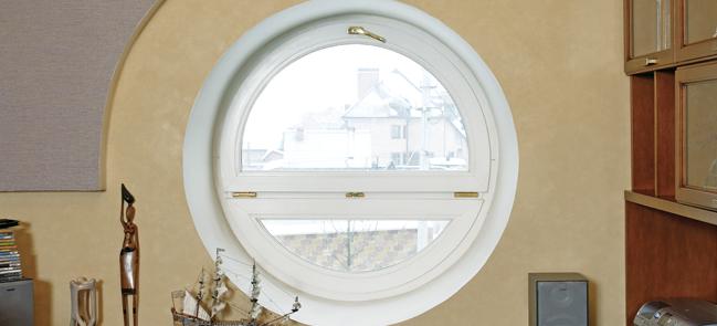Оригинальные круглые окна