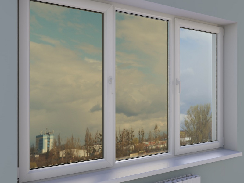 Прямоугольные пластиковые окна