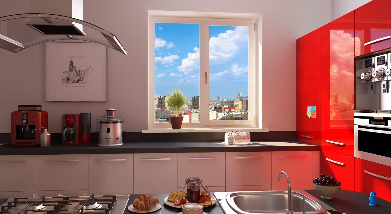 пвх окно для кухни